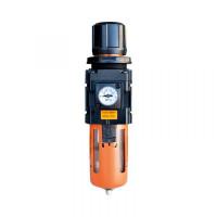 """WiederKraft WDK-7730 Фильтр-масловлагоотделитель с регулятором и манометром 3/8"""" 1500л/мин"""