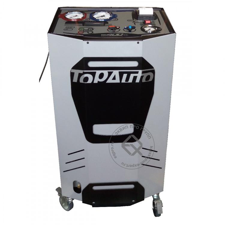 Установка для заправки кондиционеров TopAuto RR400 (спереди)