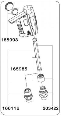 SATA 166116 Винт со втулкой для соединения быстрого разъёма с jet 4000 B Digital