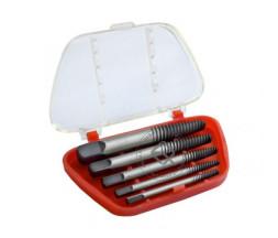 WiederKraft WDK-65718  Экстрактор для выкручивания сломанных шпилек и болтов 5 предметов