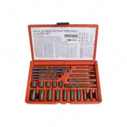 WiederKraft WDK-65295 Набор экстракторов и шпильковертов, 25 предметов