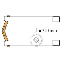 RedHotDot 047921 Электроды угловые L=220 мм / 20 град. для клещей HAMMER DDT (комплект)