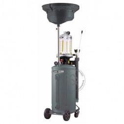 KraftWell KRW1839.80 Установка для слива и откачки масла/антифриза с подъемной ванной и мерной емкостью, мобильная