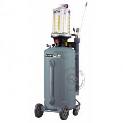 KraftWell KRW1837.80 Установка для откачки масла/антифриза с прозрачной мерной емкостью, мобильная