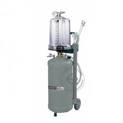 KraftWell KRW1836 Установка для откачки масла и антифриза с мерной емкостью, мобильная