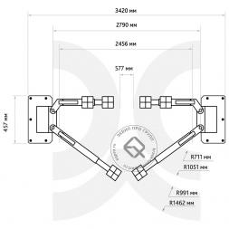 Станкоимпорт ПГН2-4.0 Подъемник двухстоечный 4 т