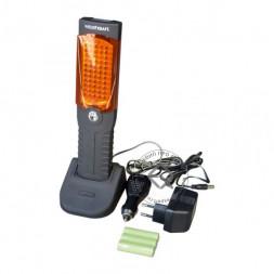 WiederKraft WDK-65514 Фонарь светодиодный аккумуляторный с 3 режимами работы (фонарь, лампа, аварийный мигающий красный свет)