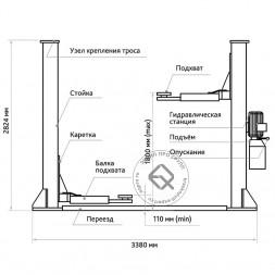 Станкоимпорт ПГН2-4.0(М) Подъемник двухстоечный 4 т