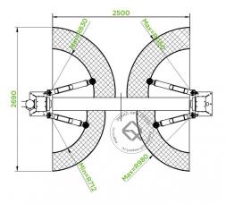 Puli PL-3.5-2B Подъемник двухстоечный 3.2 т