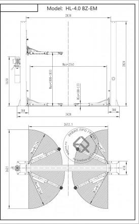 HOREX HL-4.0 BZ-EM Подъемник двухстоечный 4т