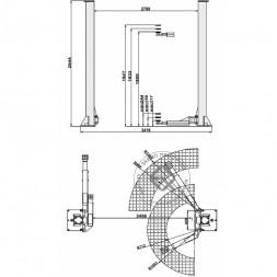 KraftWell KRW4ML Подъемник двухстоечный 4 т