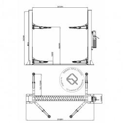 KraftWell KRW5.5ML Подъемник двухстоечный 5.5 т