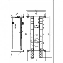 KraftWell KRW5.5WA Подъемник четырехстоечный 5.5 т под сход-развал