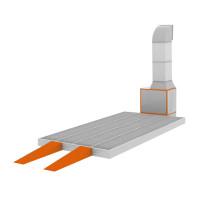 WiederKraft WDK-611 Зона подготовки со сплошными решетчатыми полами на металлическом основании 18 000 м?/ч