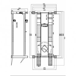 KraftWell KRW6.5WA Подъемник четырехстоечный 6.5 т под сход-развал