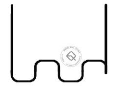 RedHotDot ST06002 Скоба крупная змейка 0.6 мм (100 шт)
