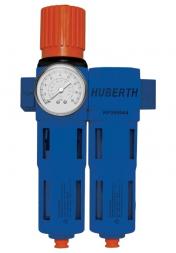 "Huberth RP208044 Фильтр 2-х ступенчатый с редуктором и манометром, 5 мкм, 2500 л/мин, 16 бар, 1/2"""