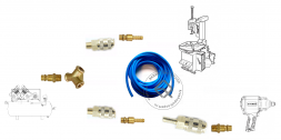 Y-kit Комплект фитингов для подключения шиномонтажного станка и гайковерта к компрессору