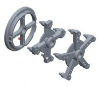 SIVIK КС-223 Набор адаптеров для колес грузовых автомобилей (кольцо, 4-х и 5-ти лучевые звезды)