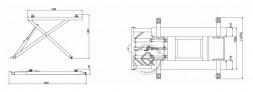 KraftWell KRW2.7 Подъемник ножничный  мобильный 2.7 т
