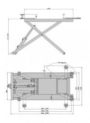 KraftWell KRW2.6M Ножничный подъемник мобильный 2.8 т