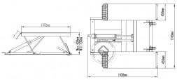 Atis LR06 Ножничный подъемник для шиномонтажа передвижной