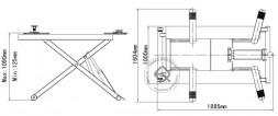Atis MR06 Ножничный подъемник для шиномонтажа передвижной