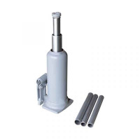 WiederKraft WDK-80165 Домкрат гидравлический бутылочного типа, двухштоковый, грузоподъемность 4т