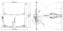 Atis A255M (PEAK 212) Подъемник двухстоечный 5.5 т